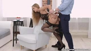 Young Courtesans - Hard anal for sexy courtesan porno