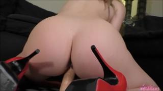 Angela Sommers ass worship dildo ride POV for you
