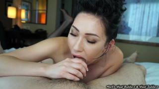 Control aria's edging orgasm blowjob the