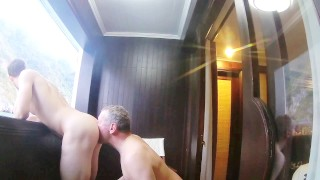 Older Daddy Bareback Fucking His Young Boy on a Boat porno