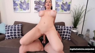 Jay on castro angelina sara strap fucks on dildo