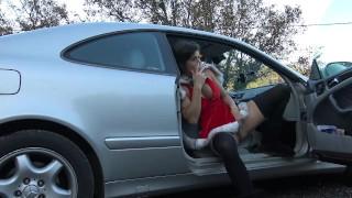 Hot Teen Love Creampie & Squirt On Public Parking by Vic Alouqua porno