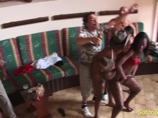 crazy african groupsex party orgy