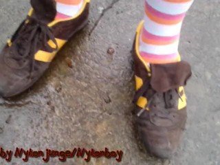 Sports in striped socks and sneakers (New Year Special 1)