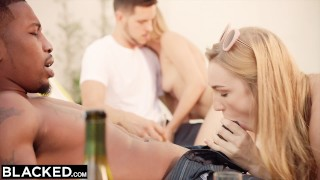 BLACKED Kendra Sunderland Interracial Obsession Part 2  bbc riding big-cock big-tits first-interracial blonde blowjob ffm hairy-pussy reverse-cowgirl 3some blacked threesome big-dick doggystyle facial