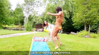 Let's Fuck Outside - Scissoring Lesbians Outdoor Wet Games Ass webcam