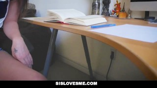 Sislovesme offers stepsis for ass schoolwork big trimmed cumshot