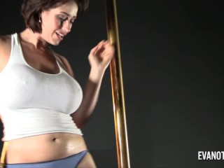 Eva Notty Stripper Pole to Dildo Play