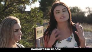 DaughterSwap - Hot Little Blonde Caught Webcamming By BFFS Dad Pt.2 Pussy sucking
