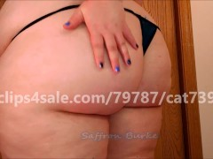 Sexy BBW Redhead Saffron Burke Shows Off Her Sexy Big Ass In a Tiny Thong
