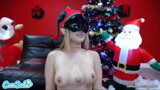 3 Tit Latina Elf in the Christmas spirt, a CamSoda Live Exclusive Cum me