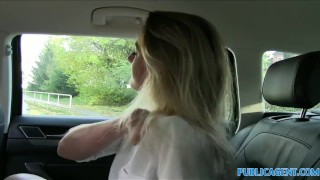 Preview 4 of PublicAgent Sexy teacher fucking in a car