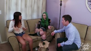 Anal Delinquent: Babysitters Blackmailed Taurus & Raquel Roper Laz Fyre  ass fuck taurus angel raquel roper lady fyre inked tattoo babysitter daddy small tits anal sex 3some threesome laz fyre green hair tattooed teen alt girl ass to mouth atm