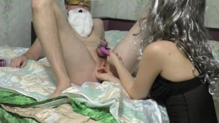 Christmas sweet anal orgasm for my husband (FEMDOM MILKING)  femdom orgasm denial tease and denial amateur anal prostate massage chastity tease prostate milking femdom milking orgasm denial cuckold prostate orgasm edging chastity slave chastity femdom anal orgasm edging handjob femdom ass worship