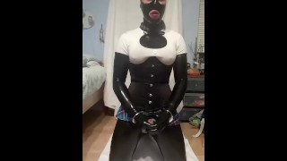 Dildos gear latex with bondage and plays lola rubber gag