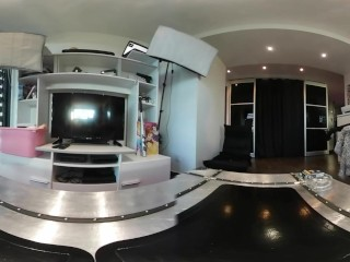 French Teen With Perfect Ass Smoke & Undress in VR 360 by Vic Alouqua