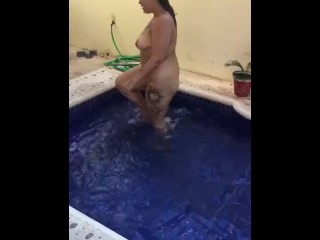 With Porn Fucked Takes Videos With Sexy Teen Strips,Her Dad Almost Caught Us! Sexy Poolside Strip An
