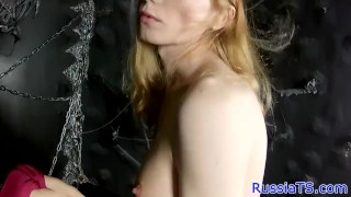 Russian toying real her tgirl butthole russiantgirls solo