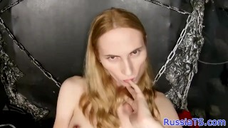 Russian her toying butthole real tgirl tranny russiantgirls
