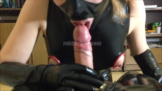 POV blowjob in latex with loads of cum  rubber glove handjob rubber fetish rubber glove sucking dick cumshot kinkyfamily latex latex fetish blowjob swallow latex blowjob pov blowjob latex femdom cum in mouth latex handjob latex catsuit kinky family
