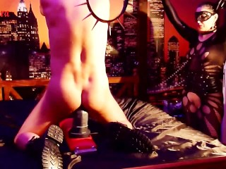 Sexy Girls Wearing Thong The Can Opener Opens My Slaves Ass! Amateur Bondage Fetish Anal
