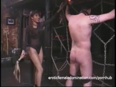 Extremely horny stallion likes being tied up and whipped hard
