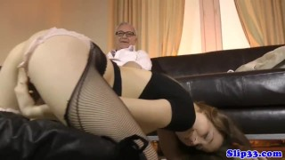 Slutty assfucked eurobabe geriatric by amateur brunette