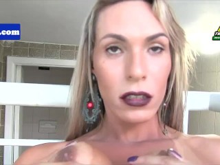 Latina tranny showing off nice booty