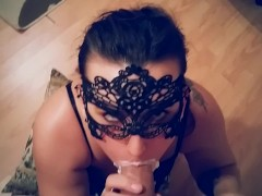 : ROUGH DEEPTHROAT FACEFUCK WHIPPED CREAM PARTY CUM IN MOUTH