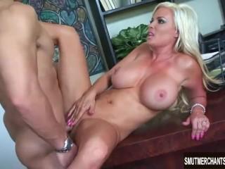 Sexy Blonde MILF fucked