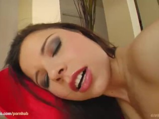 Watch this solo girl Peaches masturbating on Give Me Pink with passion