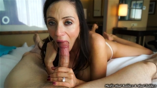 Stepmother swallows son's load Wet new