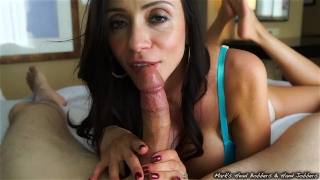 Stepmother swallows son's load Kink mom