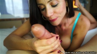 Stepmother swallows son's load  step-mother marks-head-bobbers mark-rockwell milf cougar mother mhbhj oral-creampie ocp colombian huge-tits mhb mom taboo cum-swallow step-mom stepmom cum-in-mouth the-pose
