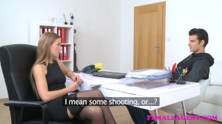 FemaleAgent American stud cums on sexy blonde agents face audition agent hardcore sexy amateur blowjob blonde office cumshot jay-smooth femaleagent orgasm reality casting pussy-licking hd czech