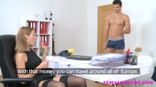 FemaleAgent American stud cums on sexy blonde agents face  agent hd audition sexy amateur blowjob blonde cumshot femaleagent casting hardcore office jay smooth reality czech orgasm pussy licking