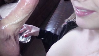 Drunk & Milking His Cum Into My Wine, Fun Double Cum Loads Swallow B2B POV! Bj pissing