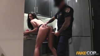 Fake Cop Female wanna be cop having hot sex Prone natural