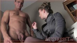 Medical ejaculation assessment kinky big