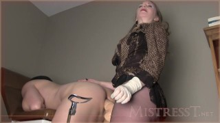 medical rectal exam  kink ass fuck handjob latex gloves femdom strapon