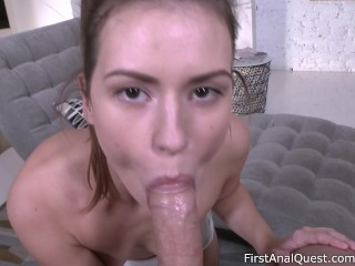 Extreme amateur anal makes Sofy Soul so happy! – First Anal Quest.