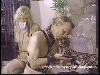 Naughty dominatrix has her pussy and her feet licked with fervor