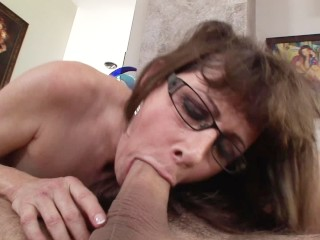 Free Porn Choke Porn Fucking, Flirty MILF alexandrA Silk seduces her sons friend with Blowjob Big Ti