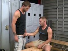 PrideStudios Real Guys Hook Up in Locker Room