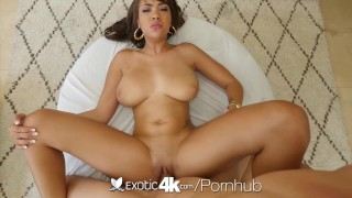 Exotic4K - Busty ebony Cassidy Banks gets pussy stuffed by white cock