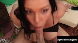 Big Tit Cuban Slut Angelina Castro Squirts and Blows! Cougar black