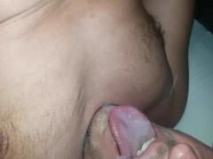 cum in own mouth