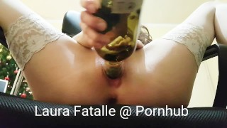 Step sister extreme bottle insertion Laura Fatalle