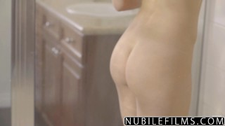 NubileFilms - Hot Shower Sex With Leah Gotti Step sister