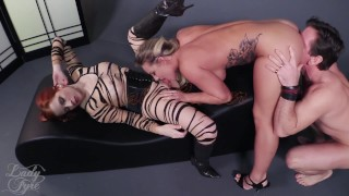 Cali Carter: Sexecutrix by Lady Fyre Femdom  breath play lady fyre face sitting executrix cali carter facesitting redhead femdom blonde fucking kink threesome laz fyre big boobs femme fatale ass smothering